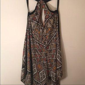 BCBGMAXAZRIA AZTEC LIKE PRINT DRESS